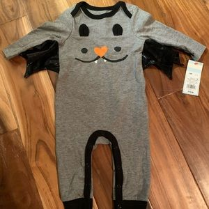 Cat jack bat costume bodysuit NWT